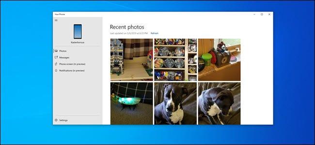 Ihre Telefon-PC-App zeigt Fotos von einem Android-Telefon