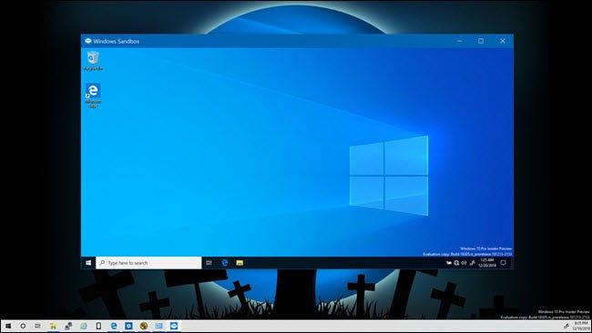 Windows Sandbox auf einem Windows 10-Desktop