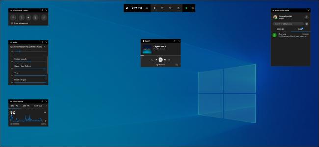 Die neue Spielleiste von Windows 10 Version 1903