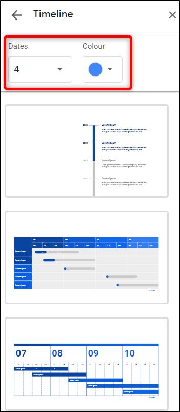 Anpassen einer Diagrammvorlage in Google Slides.