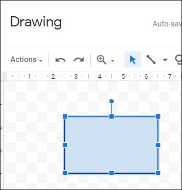 Klicken und ziehen Sie, um eine Form zu erstellen.