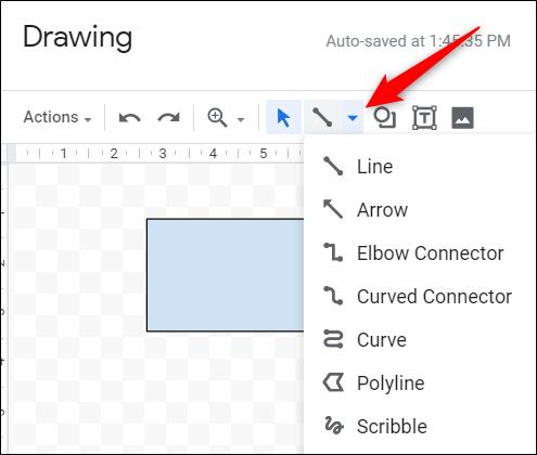 Klicken Sie auf das Linienwerkzeug.