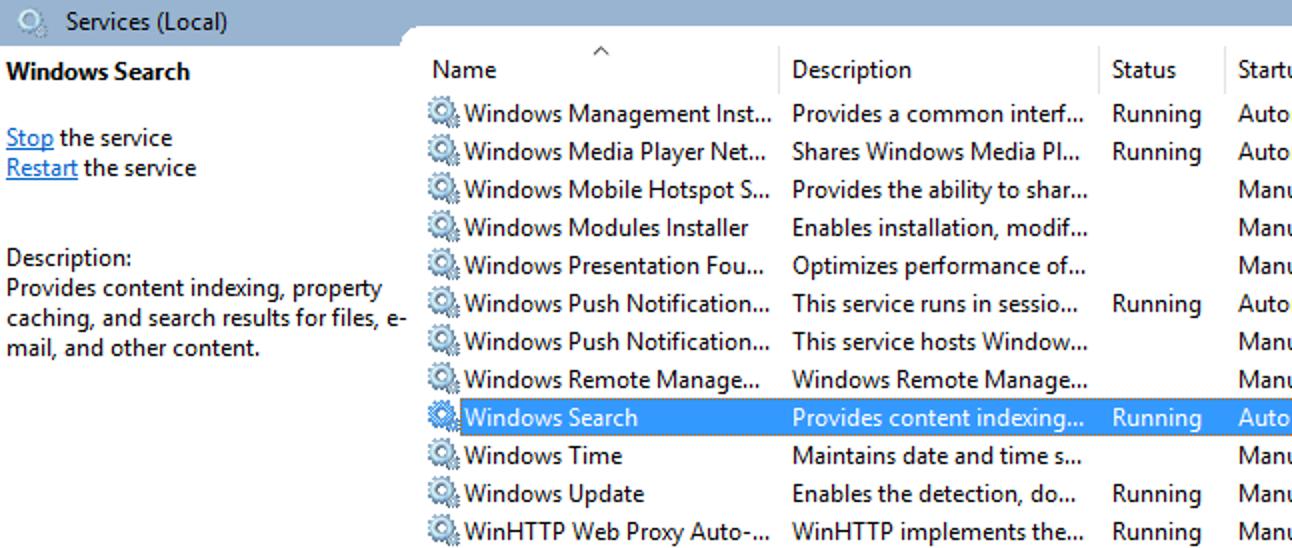 So deaktivieren Sie die Suche in Windows