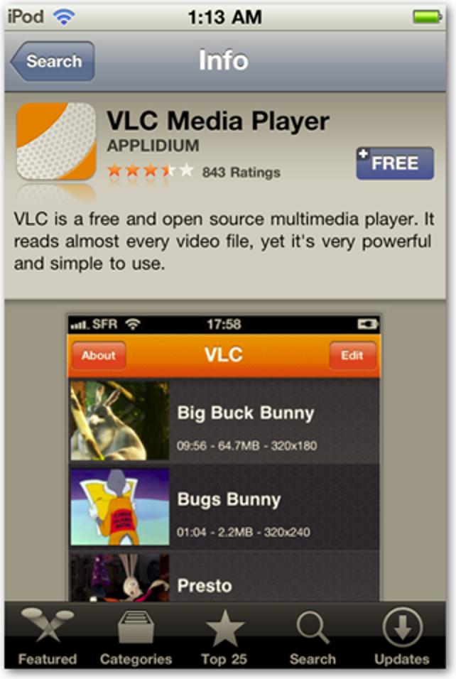 Sehen Sie sich fast jeden Videodateityp mit VLC für iPod und iPhone an