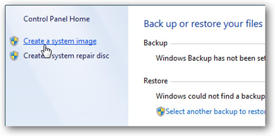 Wiederherstellen bestimmter Dateien aus einem Windows-Systemabbild