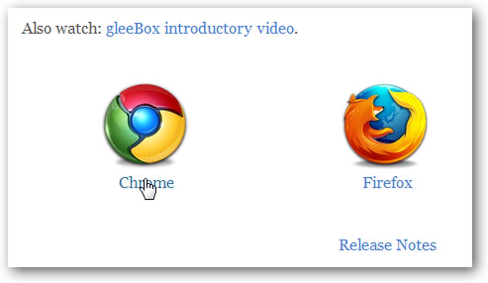 Navigieren Sie mit gleeBox auf Websites mit Tastaturkürzeln