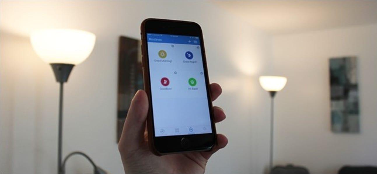 So steuern Sie mehrere SmartThings-Geräte gleichzeitig mit Routinen