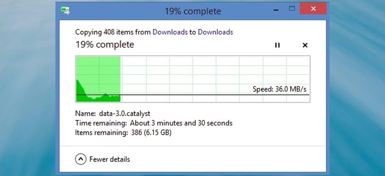 Wie ermittelt Windows die Zeit, die zum Ausführen einer Aktion mit einer Datei benötigt wird?