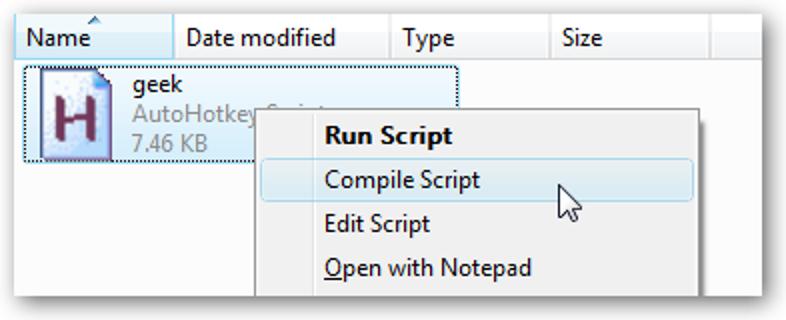 """Fügen Sie """"Als Administrator ausführen"""" für AutoHotkey-Skripte in Windows 7 oder Vista hinzu"""