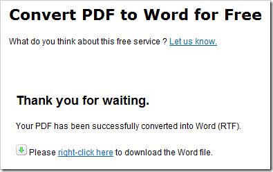 PDF to Word kostenlos