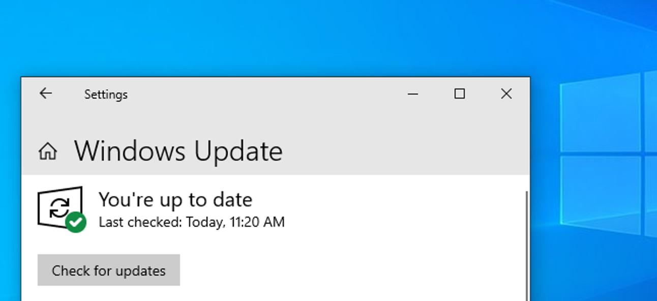 """Die Windows 10-Schaltfläche """"Nach Updates suchen"""" ist jetzt sicherer"""
