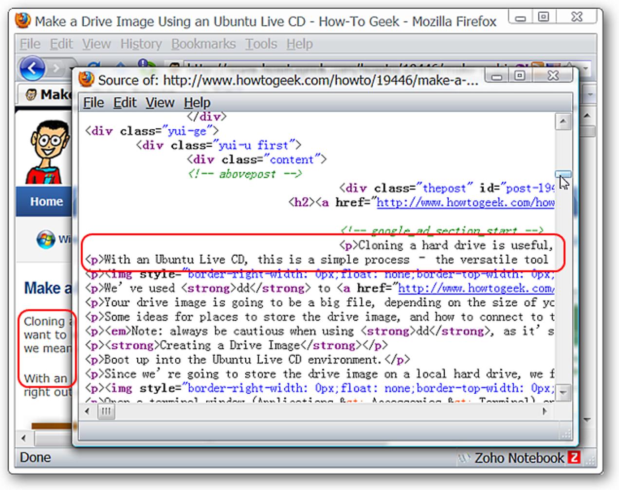 In Firefox kombinierte HTML-Tags und Webseiten anzeigen