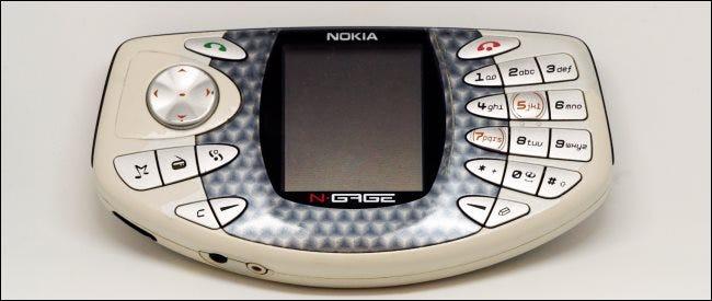Ein Nokia N-Gage-Gerät.