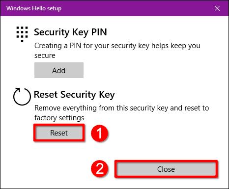 Windows 10 Sicherheitsschlüssel zurücksetzen