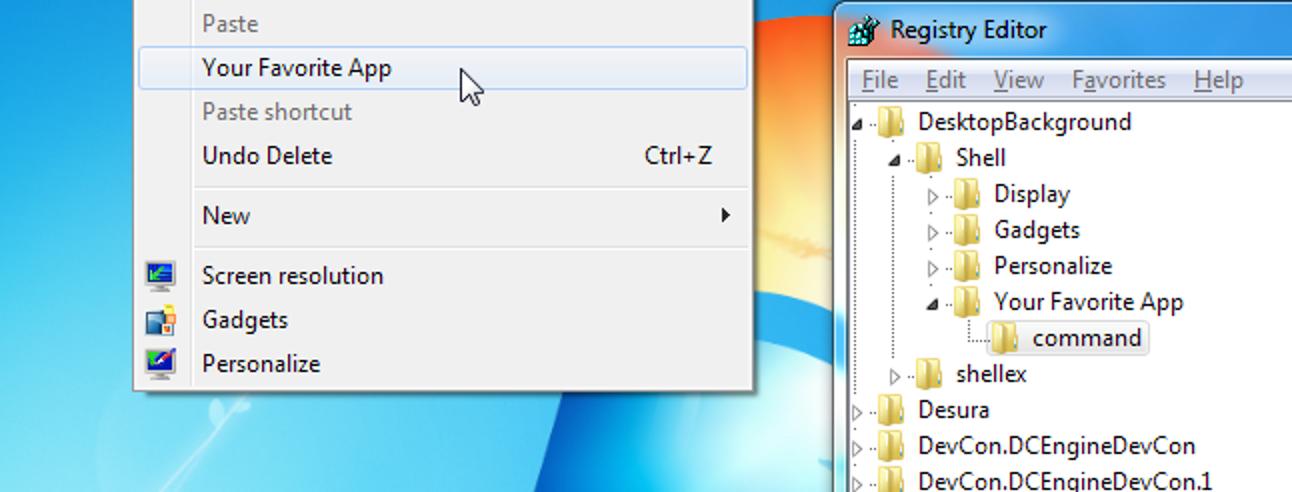 So fügen Sie eine Anwendungsverknüpfung zum Kontextmenü des Windows Explorers hinzu