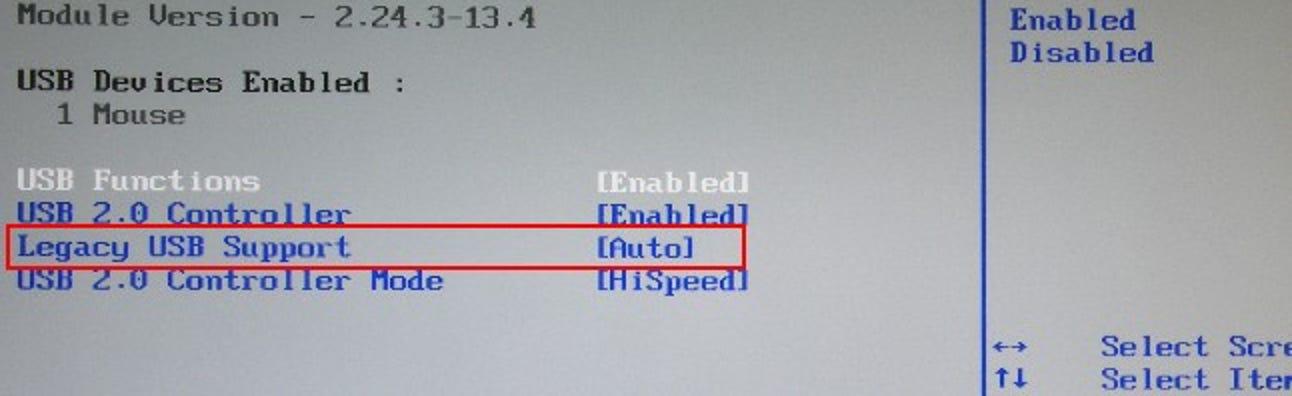 Legacy-Tastaturunterstützung, Deaktivieren von URL-Warnungen und Linux-Partitionen in Windows