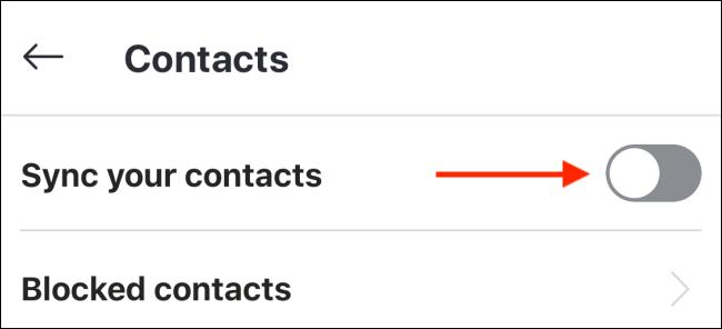 """Umschalten """"Synchronisieren Sie Ihre Kontakte."""""""