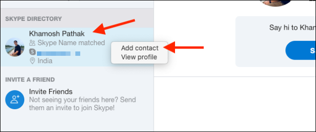 """Klicken """"Kontakt hinzufügen."""""""