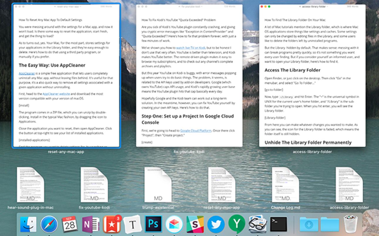 Fügen Sie Ihrem Mac eine versteckte Geste hinzu, die alle Windows für jede Anwendung anzeigt