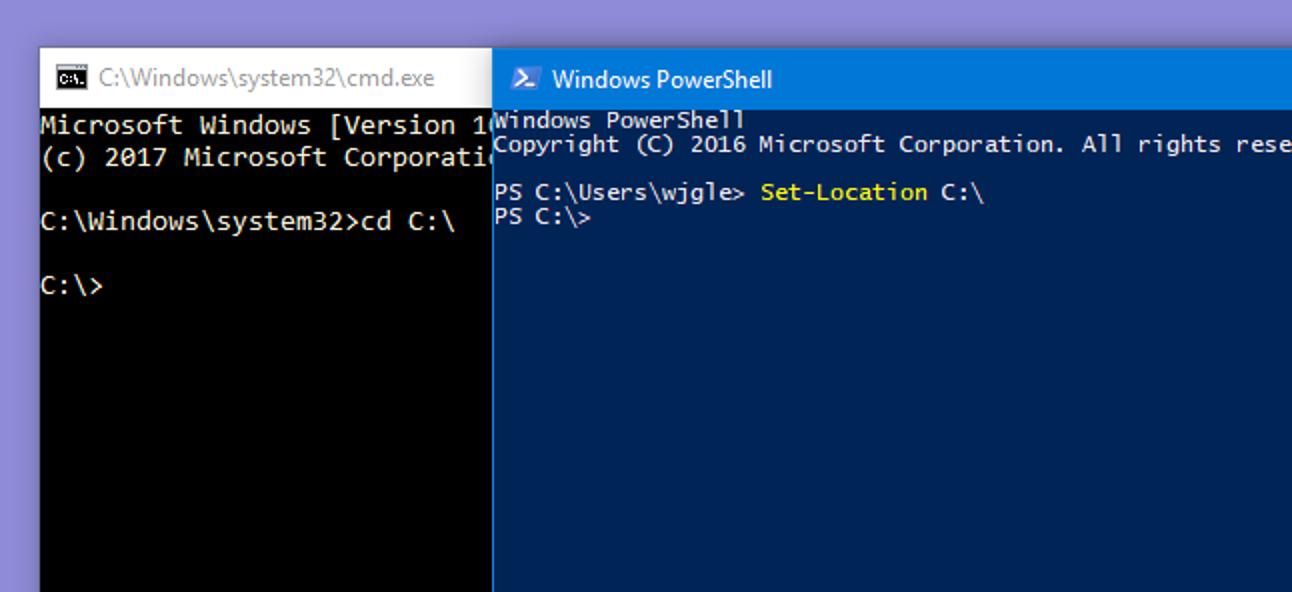 Wie sich PowerShell von der Windows-Eingabeaufforderung unterscheidet