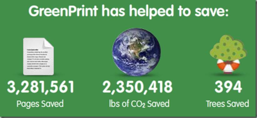 Sparen Sie Tinte und Papier mit GreenPrint World Edition