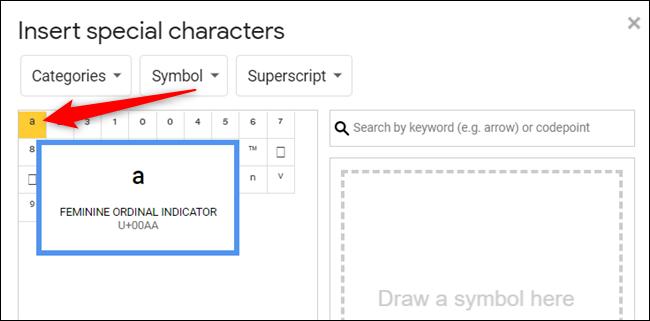 Klicken Sie auf ein Symbol, um es in Ihr Dokument einzufügen.