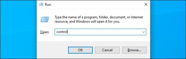 Befehl zum Starten der Systemsteuerung unter Windows 10
