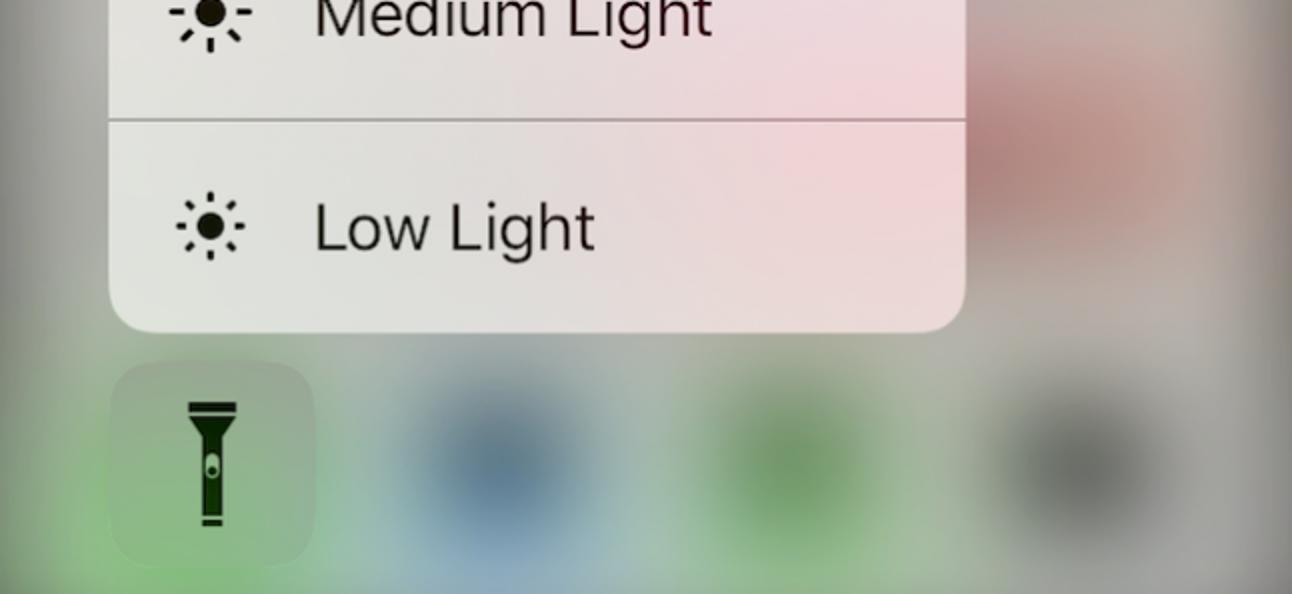 So ändern Sie die Intensität der Taschenlampe von iOS 10