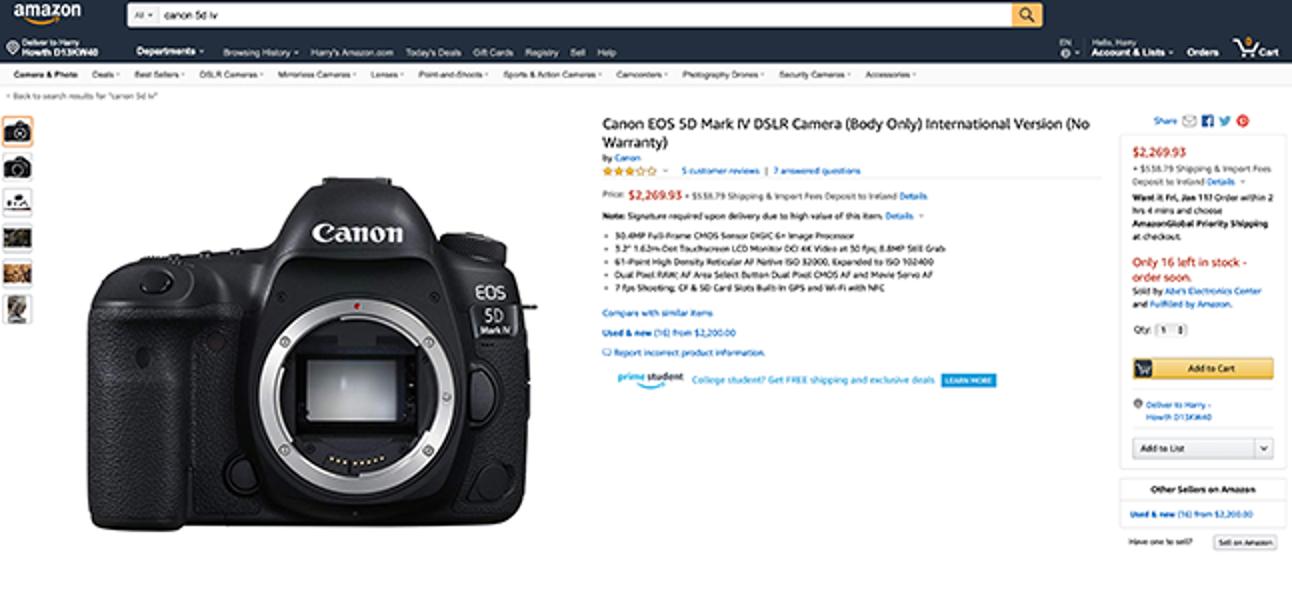 So kaufen Sie Fotografie-Ausrüstung sicher online