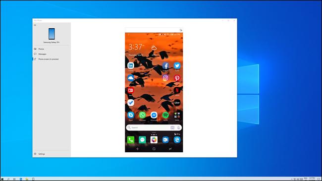 Bildschirm des Android-Telefons auf Windows-PC gespiegelt