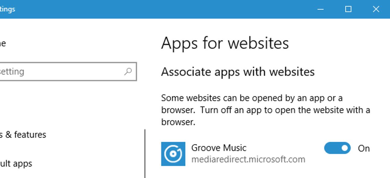 """Funktionsweise von """"Apps für Websites"""" in Windows 10"""