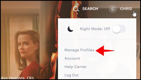 """Klicken """"Profile verwalten."""""""