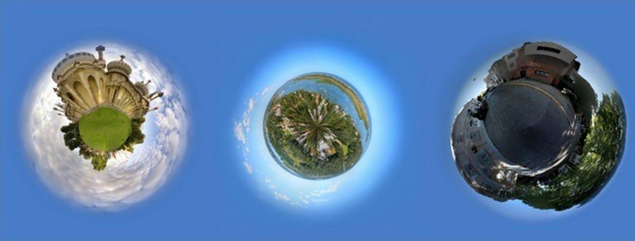 So erstellen Sie Fotoplaneten aus Panoramafotos