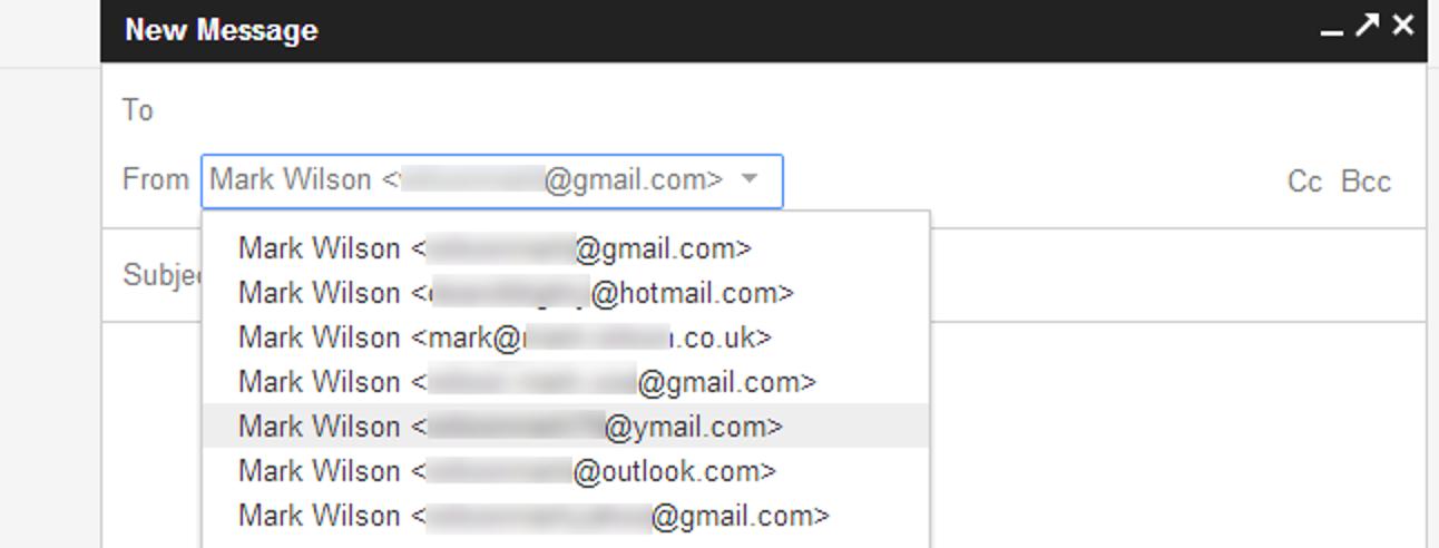 So senden Sie E-Mails von verschiedenen Adressen in Google Mail