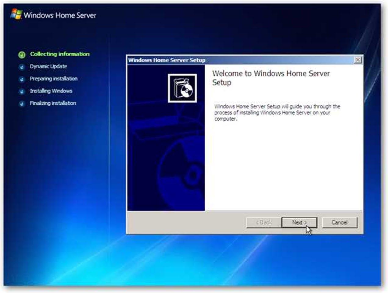 So installieren und einrichten Sie Windows Home Server