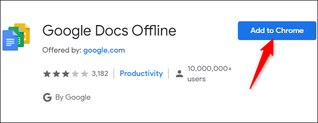 """Klicken """"Zu Chrome hinzufügen"""" um die Chrome-Erweiterung für die Offline-Verwendung zu erhalten."""