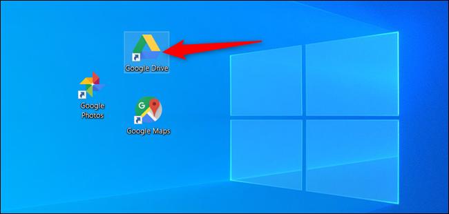 Doppelklicken Sie auf das Google Drive-Symbol.