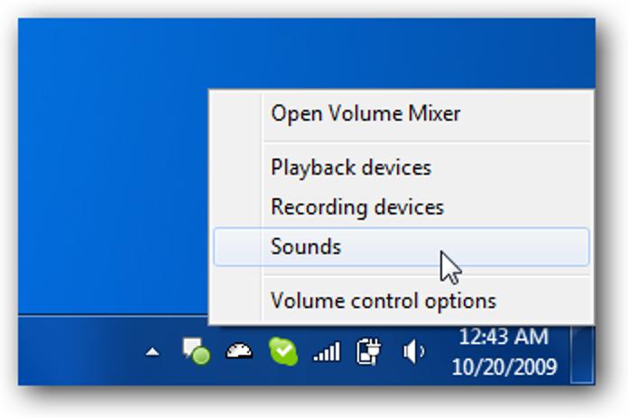 Windows 7 Volume Mixer Ermöglicht den schnellen Zugriff auf die Toneinstellungen