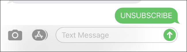 Abbestellen einer SMS-Liste auf einem iPhone.