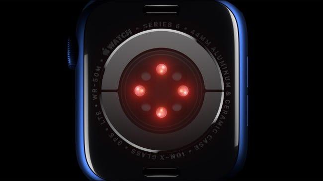 Blutsauerstoffsensor auf der Apple Watch Serie 6