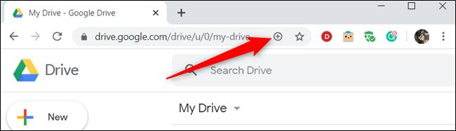 Klicken Sie auf das Pluszeichen (+) in der Adressleiste.