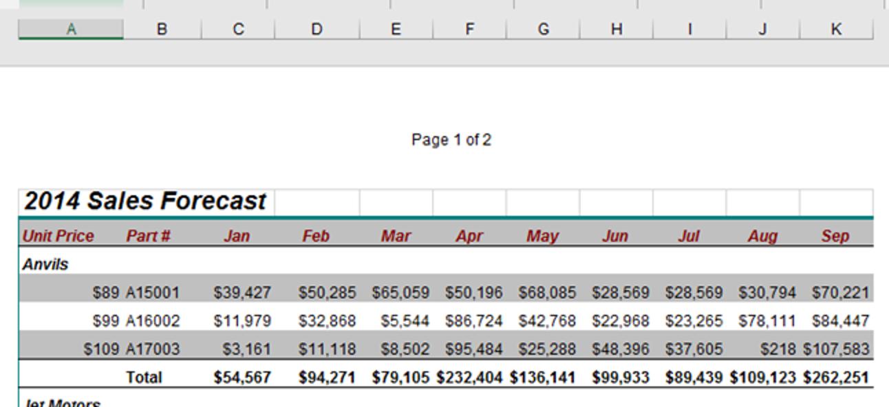 So fügen Sie Seite X von Y in eine Kopf- oder Fußzeile in Excel ein