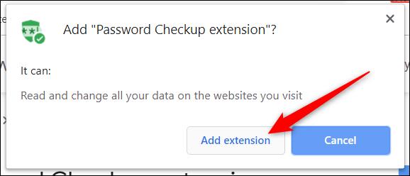 """Lesen Sie die Berechtigungen und klicken Sie dann auf """"Erweiterung hinzufügen."""""""