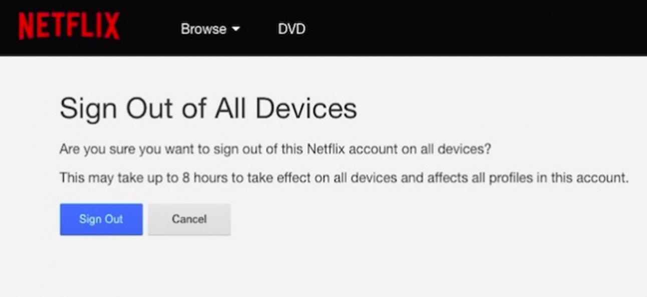 So melden Sie sich auf jedem Gerät, das es verwendet, von Ihrem Netflix-Konto ab