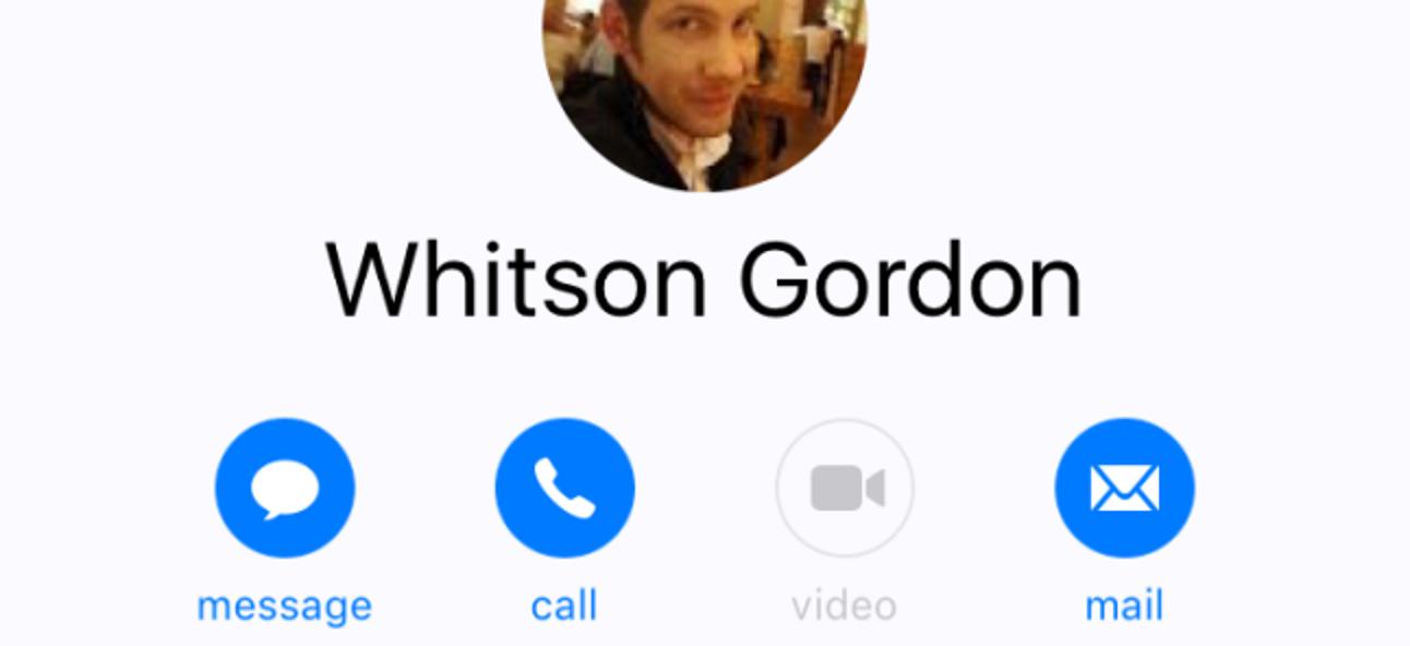 So legen Sie eine bevorzugte Kontaktmethode für Kontakte in iOS 10 fest