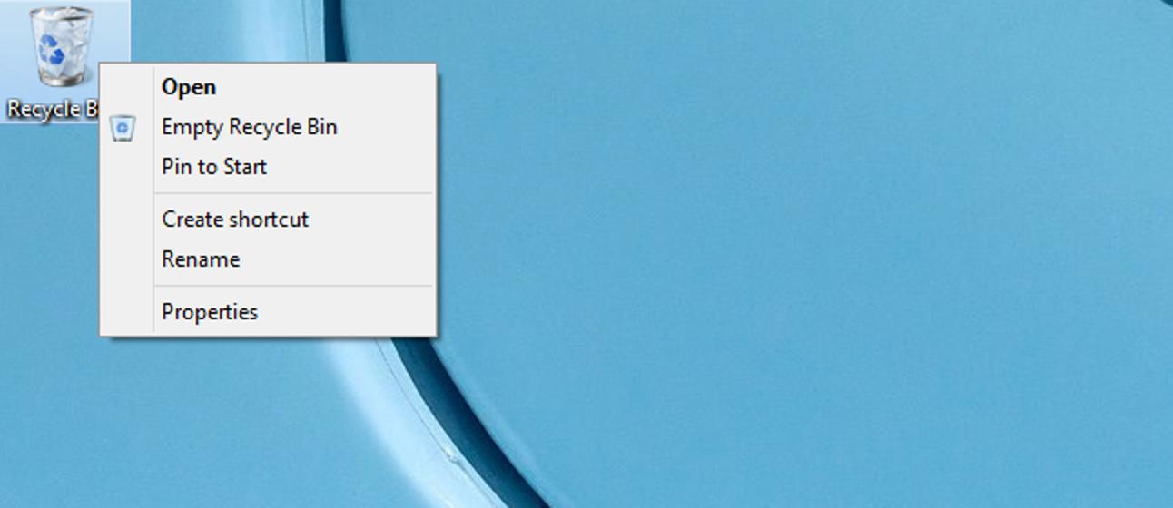 In Windows 10 muss ein neuer Pin für den Papierkorb gestartet werden