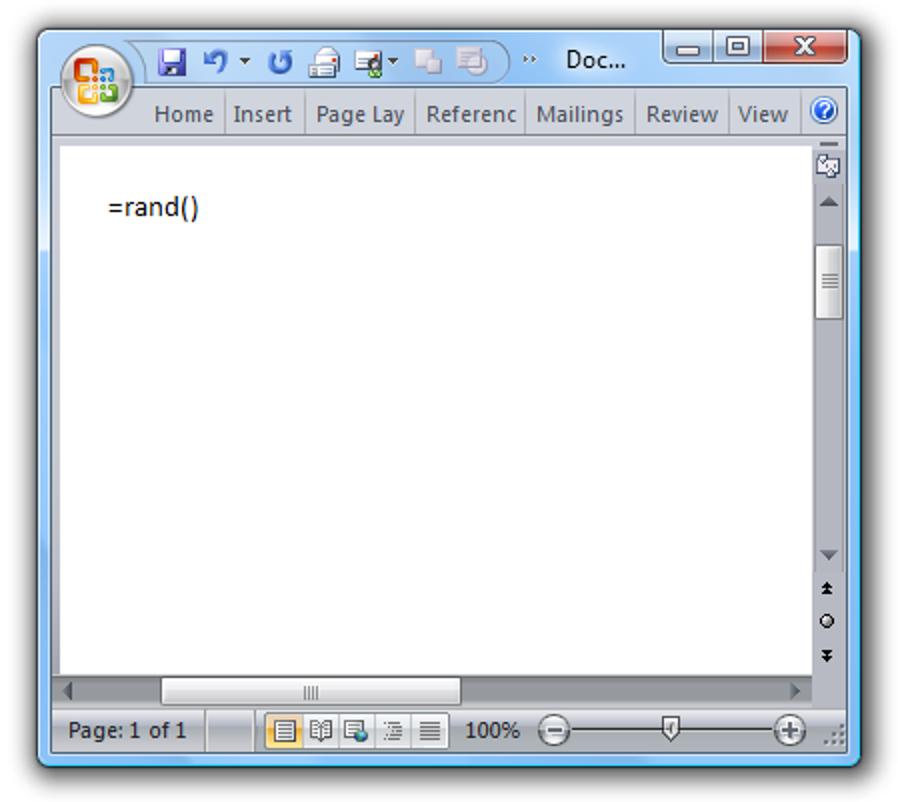 """Spaß bei der Arbeit: Microsoft Word """"Easter Egg"""""""