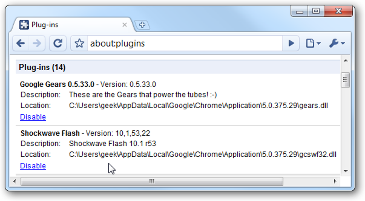Deaktivieren Sie das alte Adobe Flash-Plugin in Google Chrome