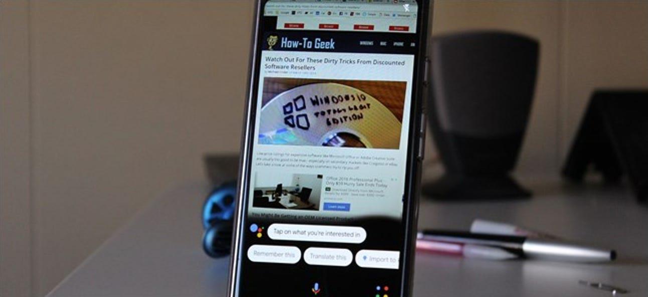 Google Lens im Assistenten kann jetzt Text auswählen