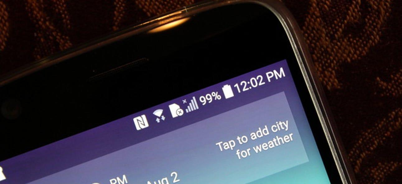 So verstecken Sie Symbole in der Android-Statusleiste